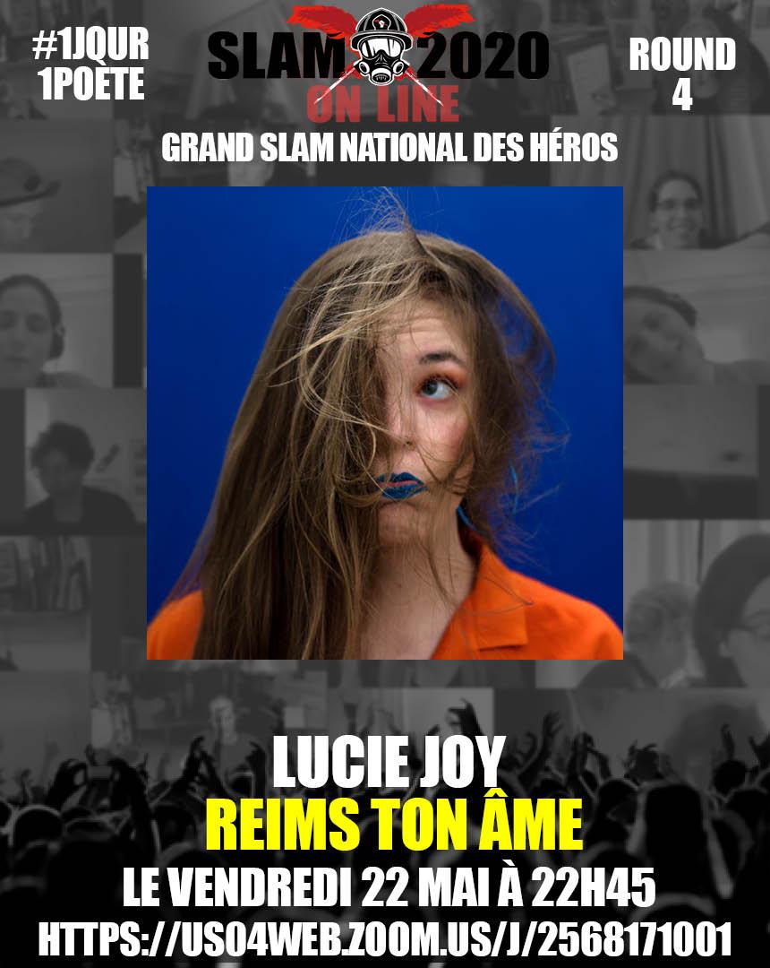 portrait insolite de Lucie Joy avec les cheveux en l'air pour le GSN grand slam national