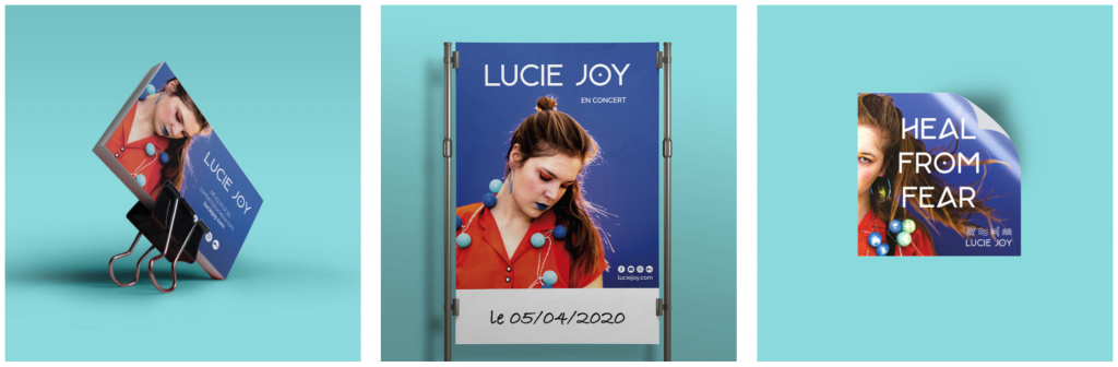 merch lucie joy affiches, stickers