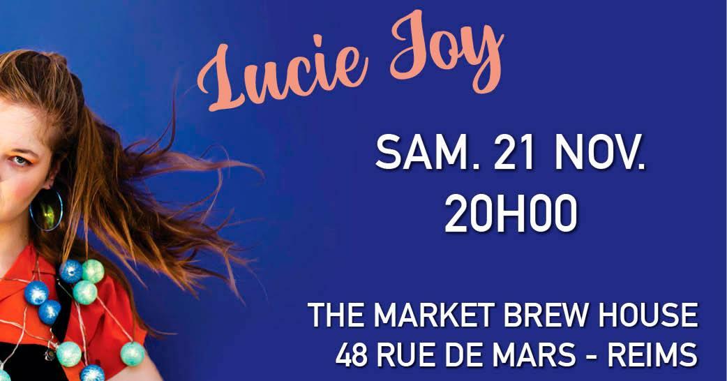 affiche concert market brewhouse reims lucie joy